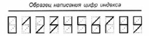 как пишутся цифры на конверте